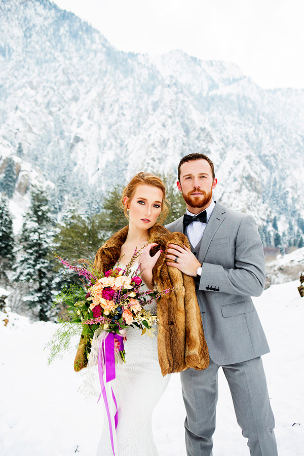 Utah Winter Mountain Wedding