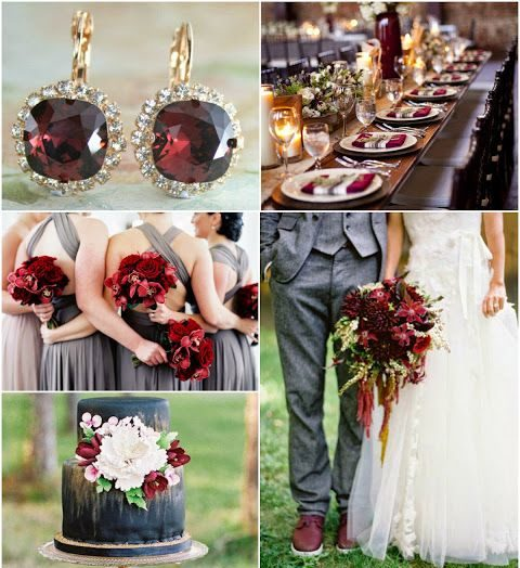 Winter Wedding Color Obsession: Cabernet